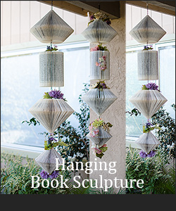 Hanging Book Sculpture Tutorial
