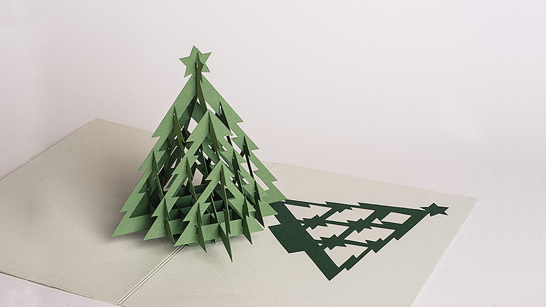 Christmas Tree Pop-up Card #3